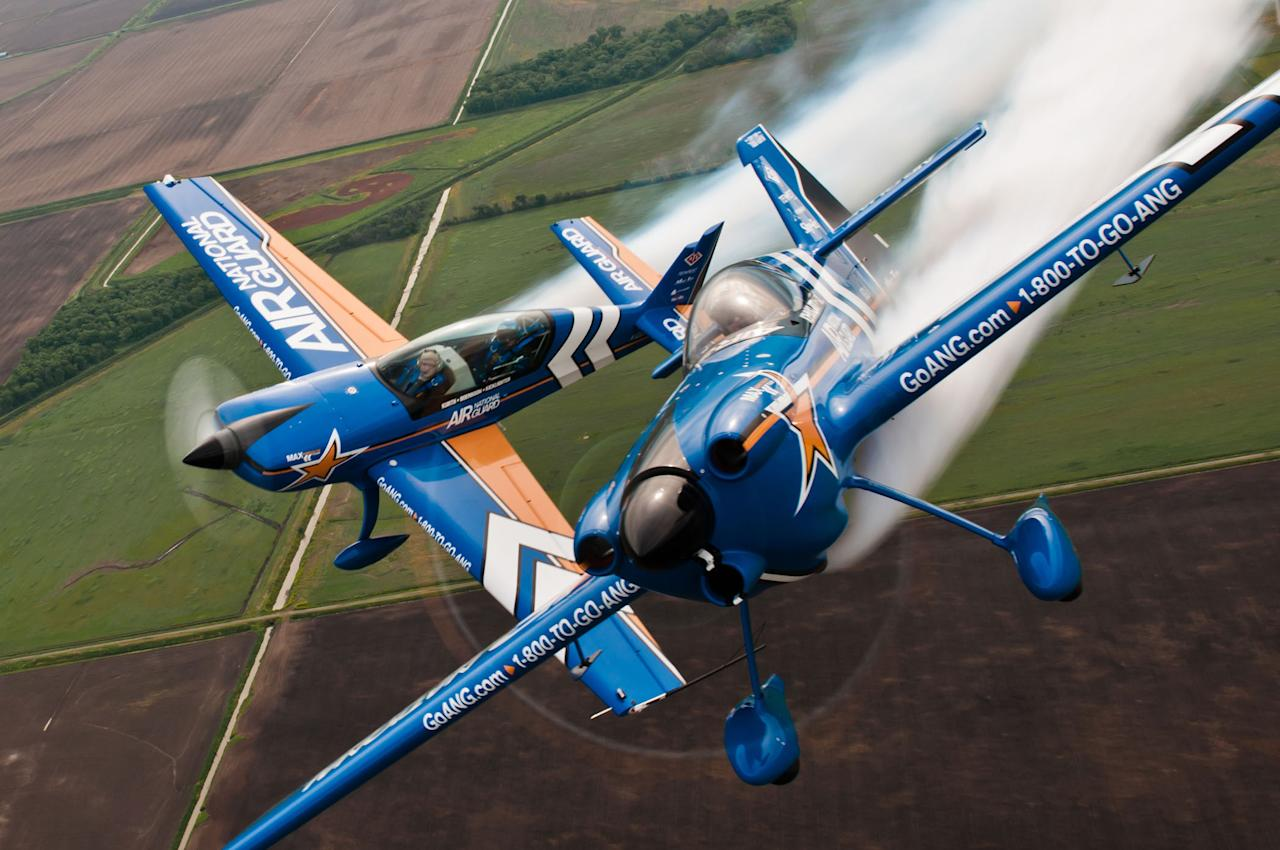 139th Airlift Wing Sound of Speed Airshow and Open House practice at Rosecrans Memorial Airport, St. Joseph, Missouri (Sheldon Thompson/USAF/Rex Features)