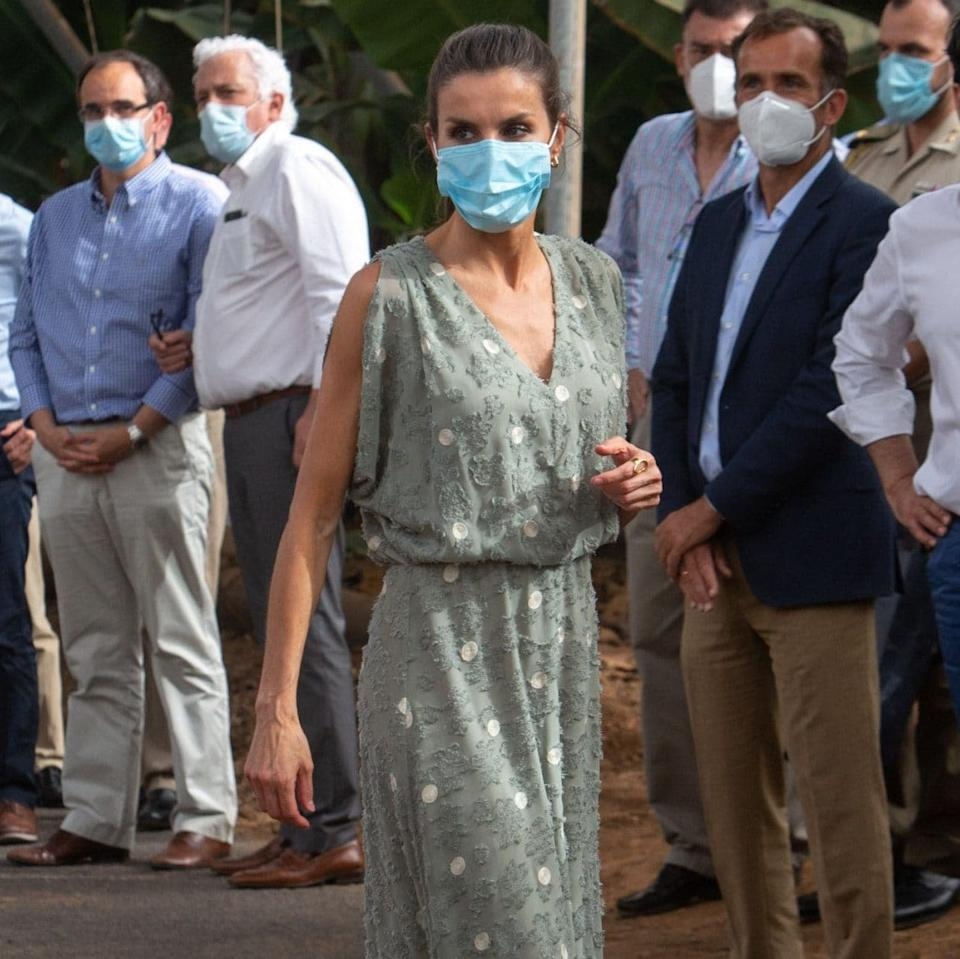 Queen Letizia face mask - DESIREE MARTIN/AFP via Getty Images