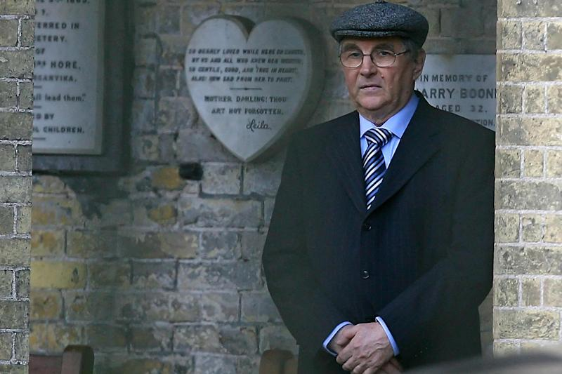 Walter Litvinenko, father of murdered former Russian spy Alexander Litvinenko, attends his son's funeral at Highgate cemetery in London, on 7 December 2006: Getty