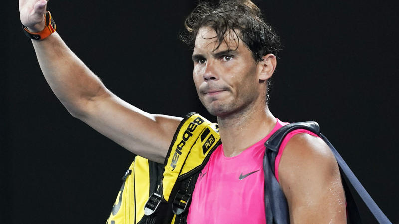 Rafael Nadal, pictured here thanking the crowd as he walks off court at the Australian Open.
