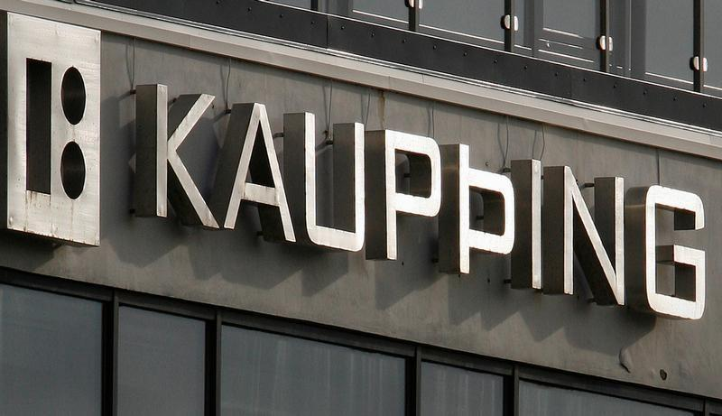 The headquarters of Iceland's Kaupthing Bank is seen in Reykjavik