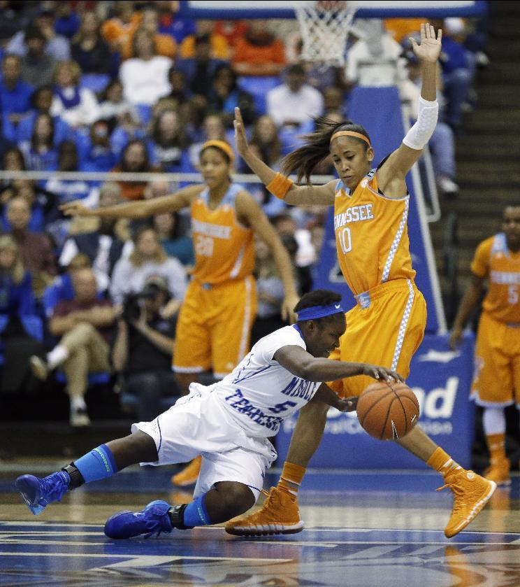 No. 4 Tennessee women beat Middle Tenn 67-57