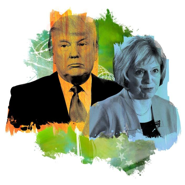 """Donald Trump's verbal assaults on Theresa May were described by a source with knowledge as """"near-sadistic"""". - Kenneth Kawamoto"""