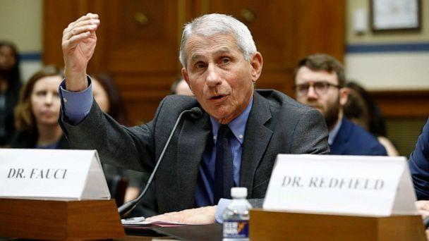PHOTO: Dr. Anthony Fauci, director of the National Institute of Allergy and Infectious Diseases, testifies before a House Oversight Committee hearing on preparedness for and response to the coronavirus outbreak on Capitol Hill, March 11, 2020. (Patrick Semansky/AP)
