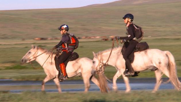 Competitors test their physical and mental limits on the backs of wild horses in Mongolia.