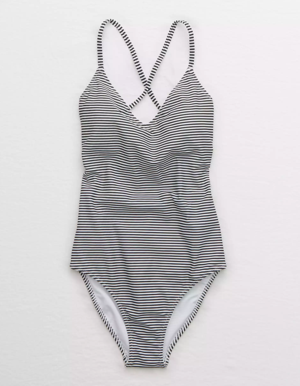 Strappy Back One Piece Swimsuit. Image via Aerie.
