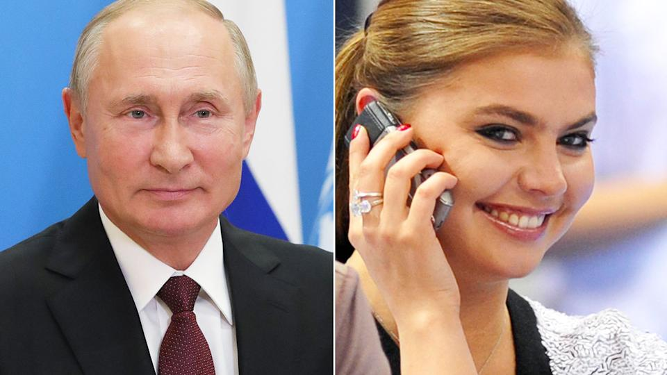 Vladimir Putin pis pictured here alongside long-rumoured partner Alina Kabaeva.