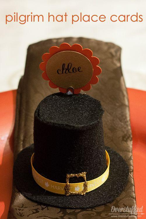 "<p>To get into the spirit of the first Thanksgiving, line your table with mini pilgrim hats. </p><p><strong>Get the tutorial at <a href=""https://www.overstuffedlife.com/2014/11/easy-pilgrim-hat-place-cards-for.html#_a5y_p=4640576"" rel=""nofollow noopener"" target=""_blank"" data-ylk=""slk:Overstuffed"" class=""link rapid-noclick-resp"">Overstuffed</a>.</strong></p><p><a class=""link rapid-noclick-resp"" href=""https://www.amazon.com/Dixie-Bath-600-Varies-Color/dp/B00IYNYCUY?tag=syn-yahoo-20&ascsubtag=%5Bartid%7C10050.g.1538%5Bsrc%7Cyahoo-us"" rel=""nofollow noopener"" target=""_blank"" data-ylk=""slk:SHOP PAPER CUPS"">SHOP PAPER CUPS</a></p>"