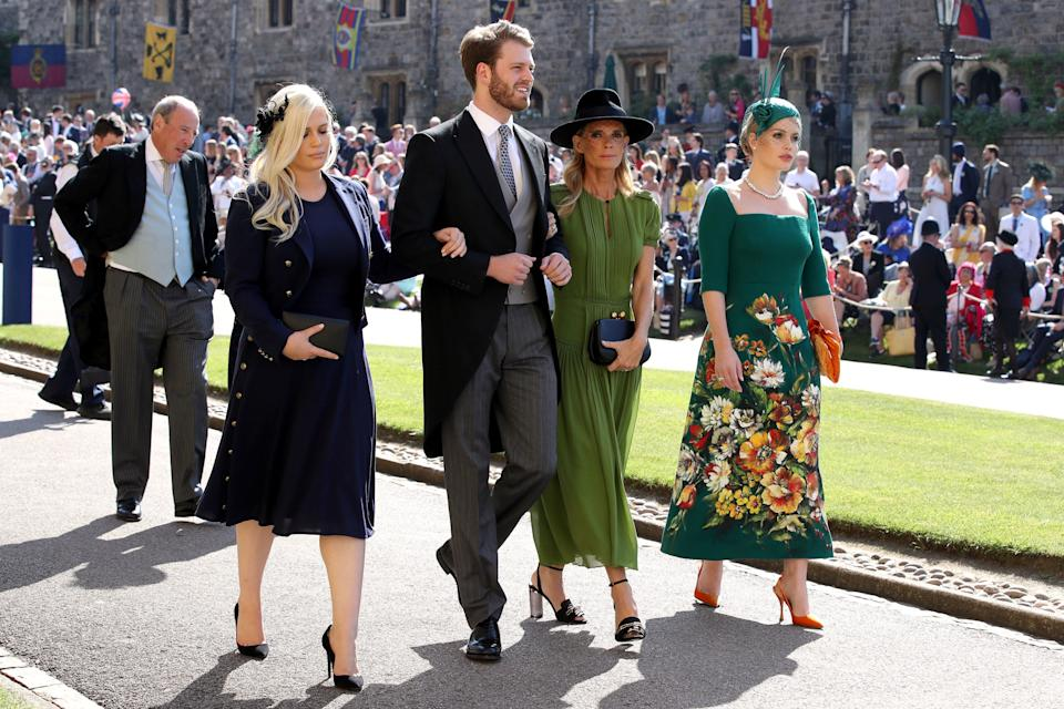 Eliza Spencer, Louis Spencer, Victoria Aitken and Kitty Spencer arrive at St George's Chapel at Windsor Castle for the wedding of Meghan Markle and Prince Harry in Windsor, Britain, May 19, 2018.Chris Radburn/Pool via REUTERS