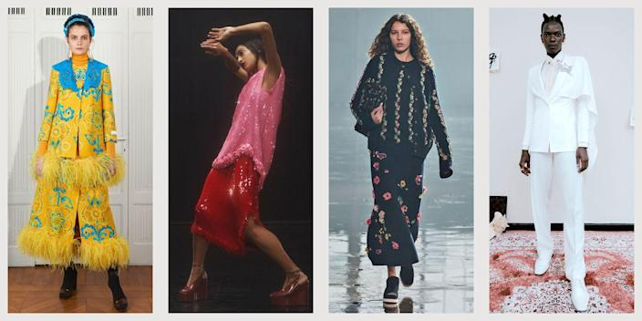 """<p>Following a whirlwind of socially distant runway shows and presentations that started in <a href=""""https://www.townandcountrymag.com/style/fashion-trends/g35480266/nyfw-fall-winter-2021-best-looks/"""" rel=""""nofollow noopener"""" target=""""_blank"""" data-ylk=""""slk:New York City"""" class=""""link rapid-noclick-resp"""">New York City</a> and bounced around the globe to <a href=""""https://www.townandcountrymag.com/style/fashion-trends/g35564727/london-fashion-week-fall-winter-2021-best-looks/"""" rel=""""nofollow noopener"""" target=""""_blank"""" data-ylk=""""slk:London"""" class=""""link rapid-noclick-resp"""">London</a> and then <a href=""""https://www.townandcountrymag.com/style/fashion-trends/g35604458/milan-fashion-week-fall-winter-2021-best-looks/"""" rel=""""nofollow noopener"""" target=""""_blank"""" data-ylk=""""slk:Milan"""" class=""""link rapid-noclick-resp"""">Milan</a>, fashion month is approaching its grand finale: Paris. The last stop of the ready to wear season is always bound to surprise and delight, with presentations to look forward to from Christian Dior and Rochas, Vionnet, Paco Rabanne, Chloe and Balmain. Here, our favorite moments from the ready-to-wear shows for Autumn Winter 2021. </p>"""