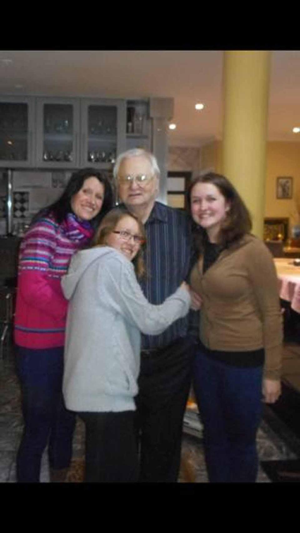 Yvonne and her daughters were devastated when her dad, Alan, passed away in September 2019 (Collect/PA Real Life).