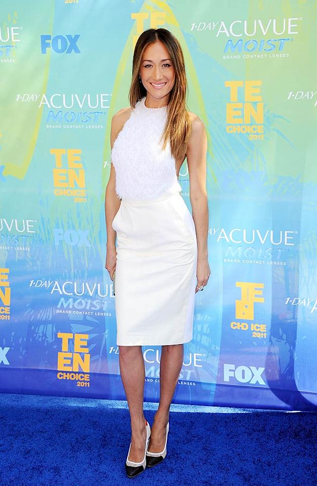 """Nikita"" star Maggie Q -- nominated for the Choice TV Actress award for Action -- looked white hot on the blue carpet. Jason Merritt/<a href=""http://www.gettyimages.com/"" target=""new"">GettyImages.com</a> - August 7, 2011"