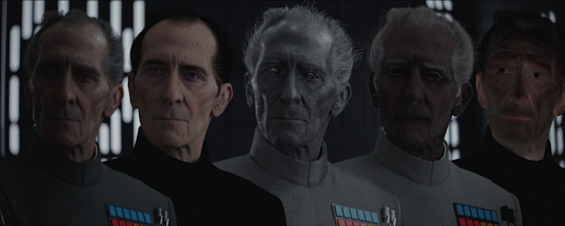 A look at the process of recreating Peter Cushing. (Credit: LucasFilm)