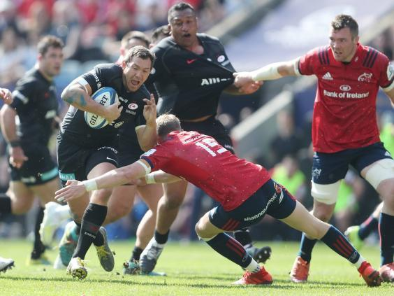 Saracens were able to expose weaknesses in Munster full-back Mike Haley (PA)