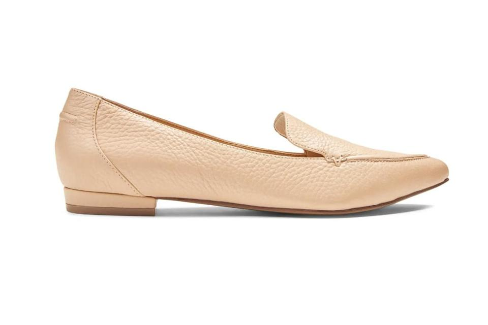 nude loafer, pointed toe loafer, vionic loafer
