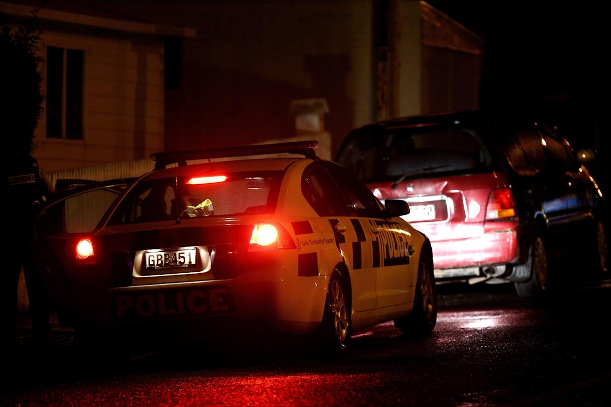 Police investigate a property at Somerville Street on March 15, 2019 in Dunedin, New Zealand. Residents have been evacuated off the street as police investigate a property believed to be related to the deadly terror attacks in Christchurch today. (Photo: Dianne Manson/Getty Images)