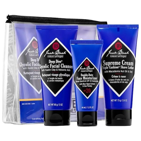 <p>This <span>Jack Black Shave Essentials</span> ($25) is quite the treat to anyone who shaves. First, they can use the pore-unclogging glycolic face wash to get a clean canvas. Next, a lathering cream helps keep skin cushioned under the blade and, finally, top it all off with an SPF moisturizer to keep skin smooth and safe afterwards.</p>