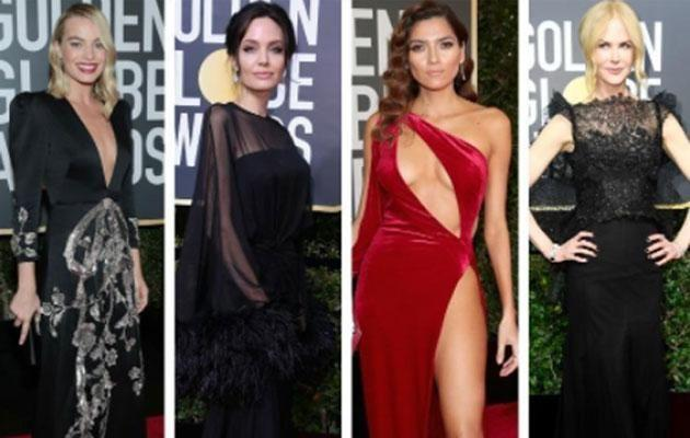 It was a blackout on the red carpet this year except for a few brave celebs who chose to wear a different colour. Source: Getty