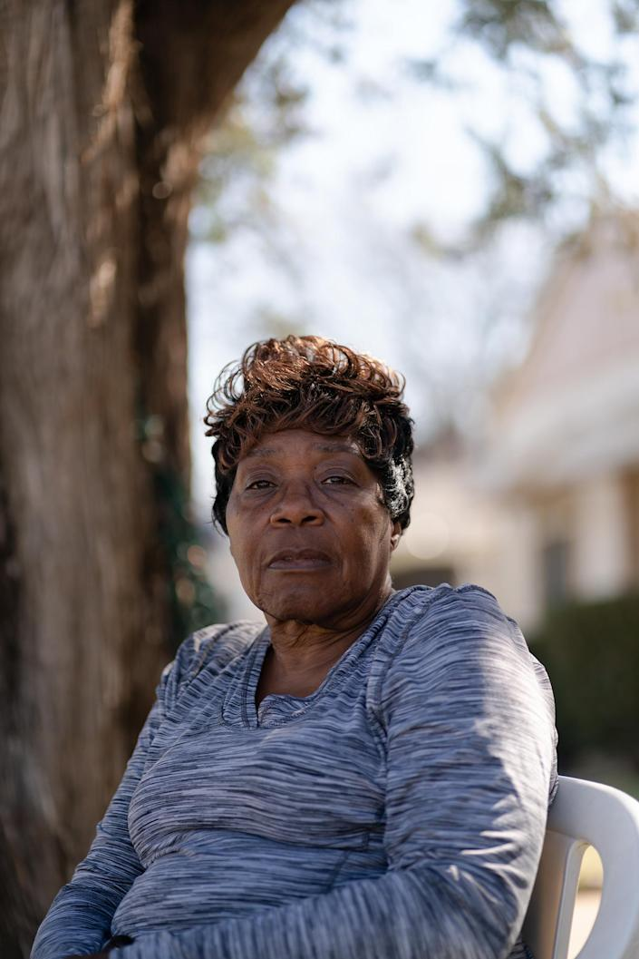 """Almeree Jones outside her home in Dallas' Ideal neighborhood on Feb. 24.<span class=""""copyright"""">Zerb Mellish for TIME</span>"""