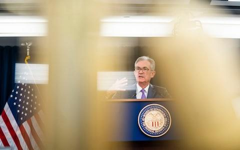 <span>Fed Chair Jerome Powell will begin his speech at 3pm London time</span> <span>Credit: JIM LO SCALZO/EPA-EFE/REX </span>