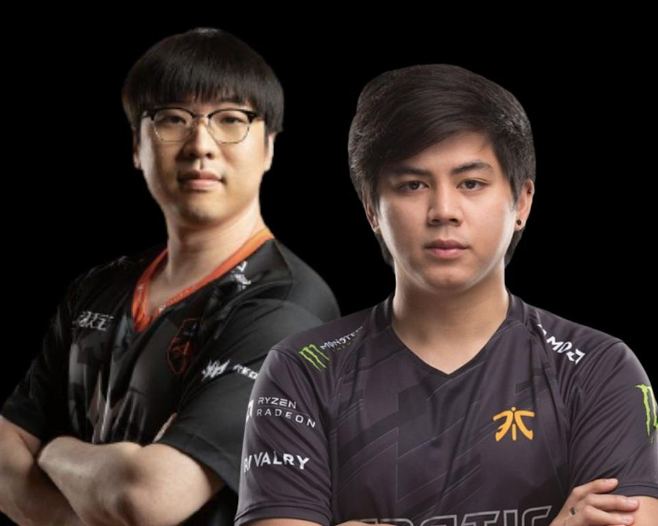 "Park ""March"" Tae-won and Djardel ""DJ"" Mampusti. (Photo: TNC Predator Facebook, Fnatic Twitter)"