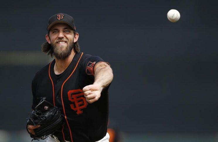 Madison Bumgarner's second rehab start was among the worst of his career. (AP)