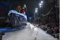 <p>As models like Gigi and Bella walked the runway, they quietly passed a 148-metre-long ship complete with on-board piano bar and swimming pool. Would it be a Karl Lagerfeld show if it wasn't totally extra? After the Cruise 2019 collection finale, all guests were invited onto the boat (named La Pausa after Chanel's villa in the Cote d'Azur) to party until the early hours.</p>