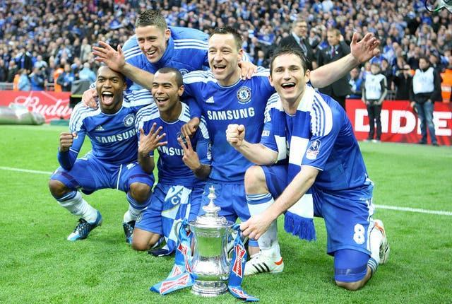 The midfielder's final FA Cup victory was claimed in 2012 with a 2-1 defeat of Liverpool