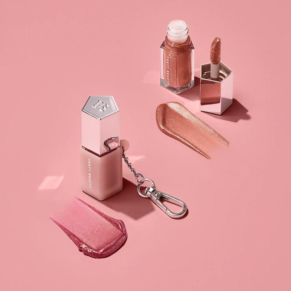 <p>If your best friend can't leave the house without their trusted lip gloss, the <span>Fenty Beauty Lil Gloss Bombs: Mini Lip Duo + Keychain Holder</span> ($24) is a must. It comes with it's own keychain so they can attach this beloved lip gloss to their bag or keys. </p>