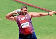 """<p>Biography: 32 years old</p> <p>Event: Men's shot put</p> <p>Quote: """"Last round, I just swung for the fences. What I threw today would have been the Olympic record. Ryan threw farther. That just tells you where the sport's going. We just keep pushing each other.""""</p>"""