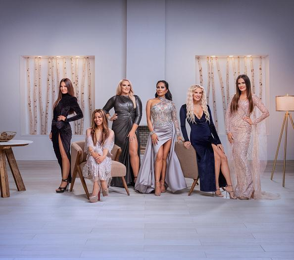 "The Real Housewives of Salt Lake City Season 1 - Pictured: (l-r) Lisa Barlow, Mary Cosby, Heather Gay, Jen Shah, Whitney Rose, Meredith Marks<span class=""copyright"">Chad Kirkland—Bravo/NBCU Photo Bank/Getty Images</span>"