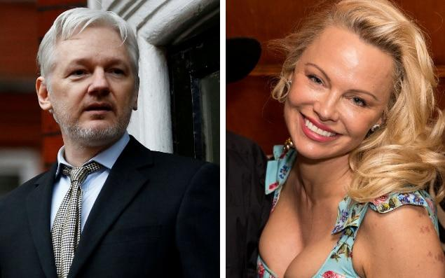 Pamela Anderson has visited Julian Assange on multiple occasions - Reuters/Tom Nicholson/REX/Shuttersto​ck