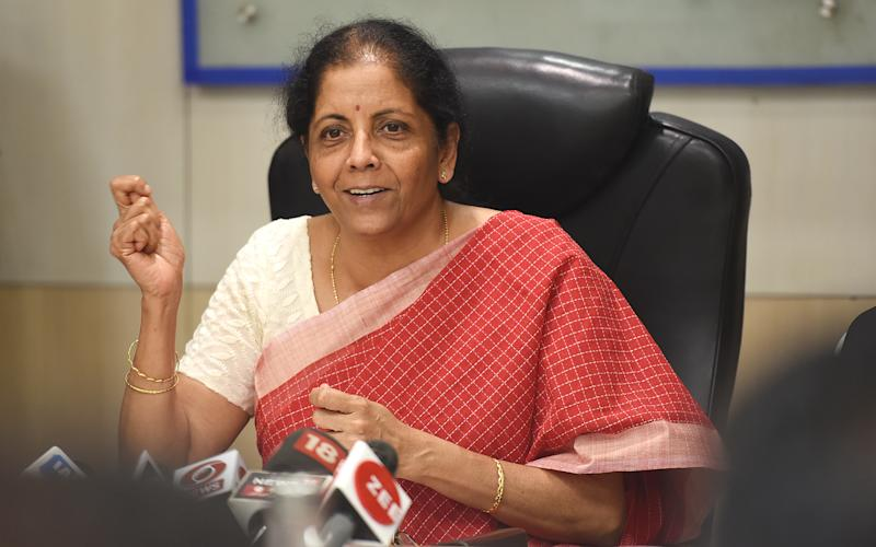 Finance Minister Nirmala Sitharaman. (Photo by Raj K Raj/Hindustan Times via Getty Images)