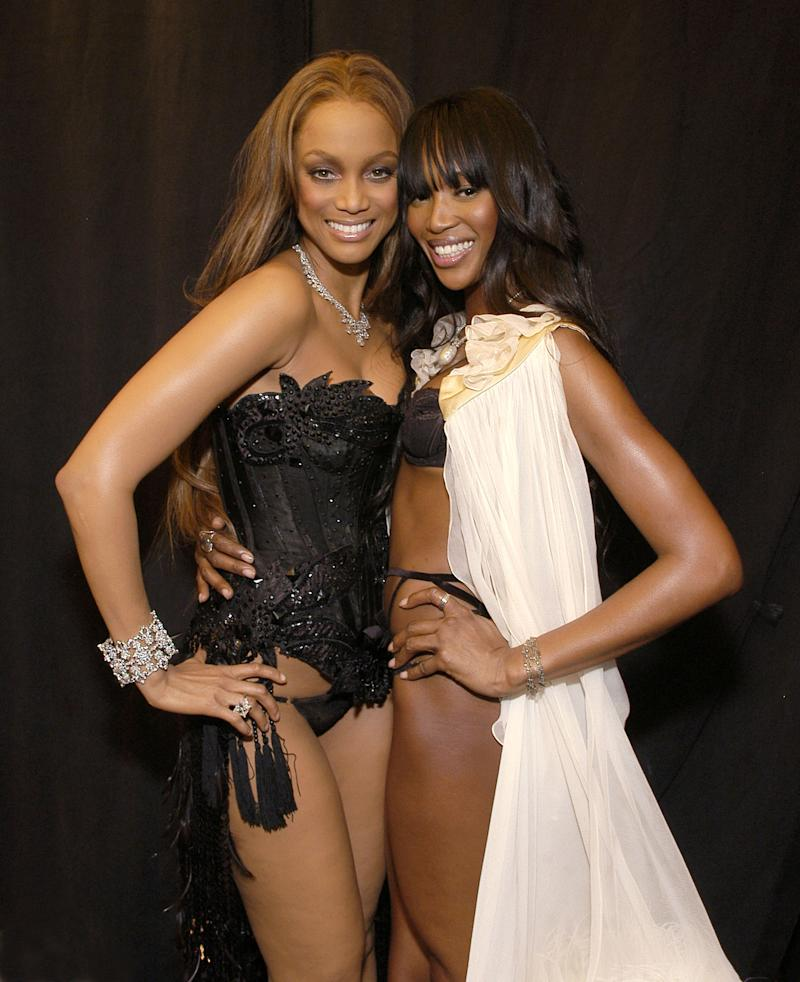 "(EXCLUSIVE, Premium Rates Apply) Tyra Banks and Naomi Campbell *EXCLUSIVE* This moment comes on the heels of an episode of ""The Tyra Banks Show"" (syndicated) set to air on November 18th where Tyra and Naomi Campbell aired out 14 years of differences in an on-air confrontation. (Photo by Jamie McCarthy/WireImage for Full Picture)"