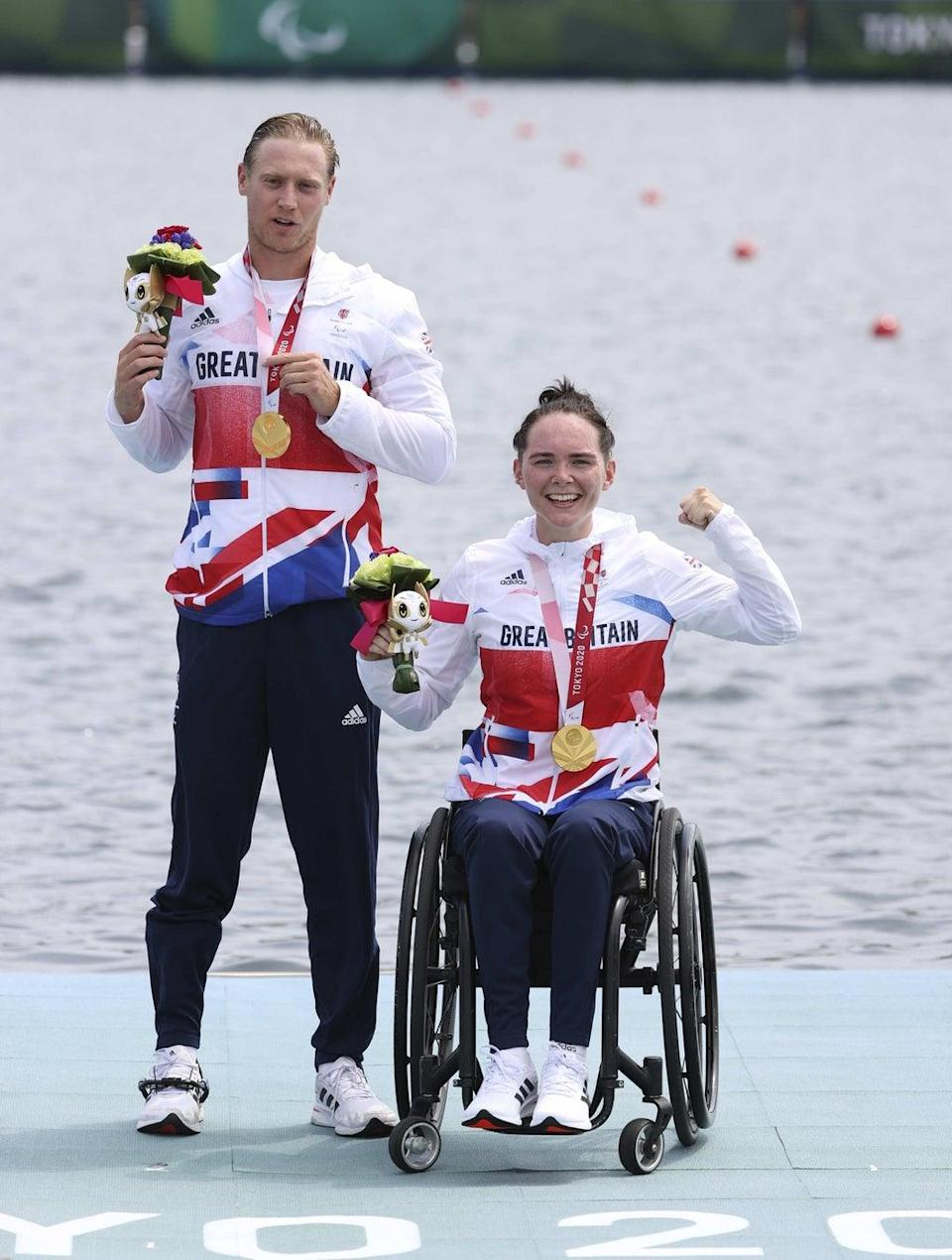 ParalympicsGB Rowers, Lauren Rowles and Laurence Whiteley (imagecommsralympicsGB) (PA Media)
