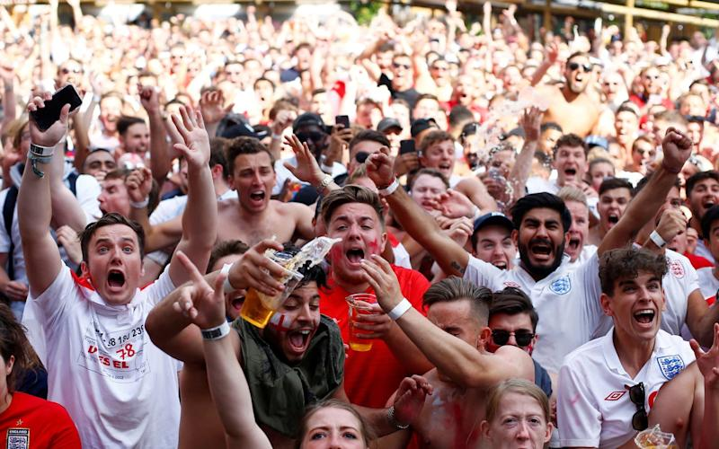 Excitement is building ahead of England's World Cup semi-final against Croatia  - REUTERS