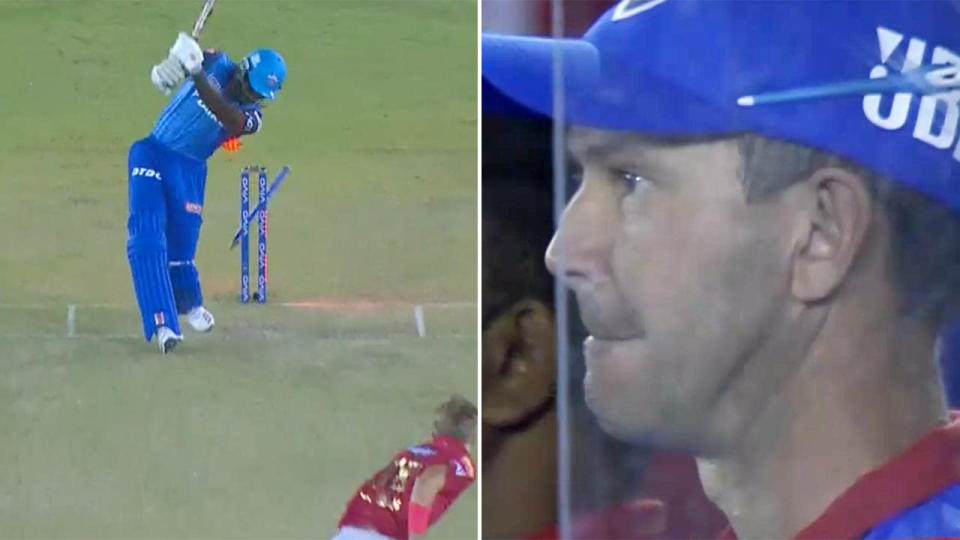 Ricky Ponting could only watch on in shock. Image: IPL