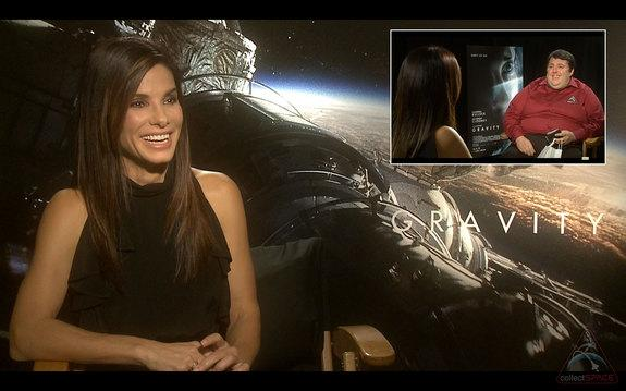 """Sandra Bullock discusses the meaning behind her new movie's title, """"Gravity,"""" in an interview with collectSPACE.com editor Robert Pearlman."""