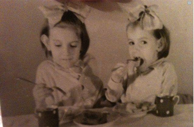 Age 6, learning to eat. Picture: Julie Butler