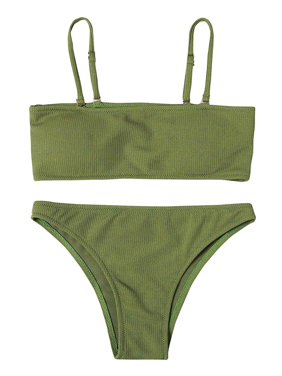 Surprise: Amazon has wildly affordable, on-trend swimwear. Available in size S to XXL.