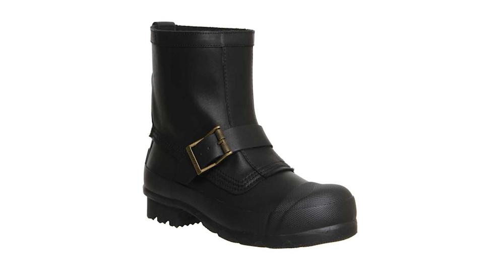 """<p>Yes, we're having a heatwave… but this is England, after all, and you never know when rain will strike. These clever shoes look like Kate Moss-esque biker boots, but are in fact a pair of wellies (plus they're on sale right now). Hunter Original Biker Short, £102 from <a rel=""""nofollow noopener"""" href=""""http://www.office.co.uk/view/product/office_catalog/6/1761400000"""" target=""""_blank"""" data-ylk=""""slk:office.co.u"""" class=""""link rapid-noclick-resp"""">office.co.u</a>k </p>"""