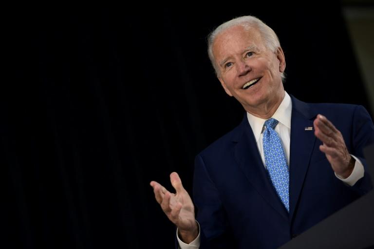 US Democratic presidential candidate Joe Biden said he will eschew campaign rallies as the country grapples with a surge in new coronavirus infections (AFP Photo/Brendan Smialowski)