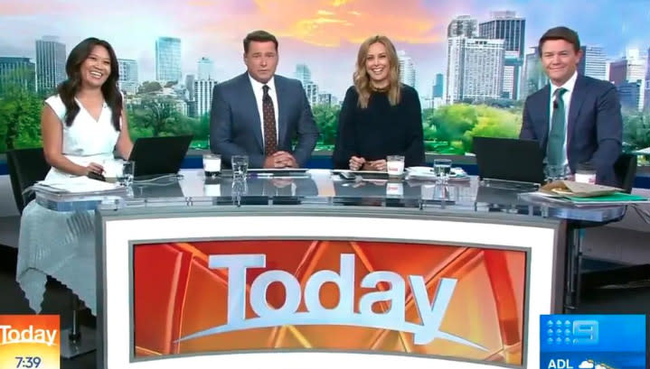 Tracey Vo, Karl Stefanovic, Ally Langford and Alex Cullen on Today 2020
