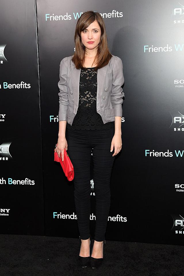 """<a href=""""http://movies.yahoo.com/movie/contributor/1800026573"""">Rose Byrne</a> at the New York City premiere of <a href=""""http://movies.yahoo.com/movie/1810167524/info"""">Friends With Benefits</a> on July 18, 2011."""