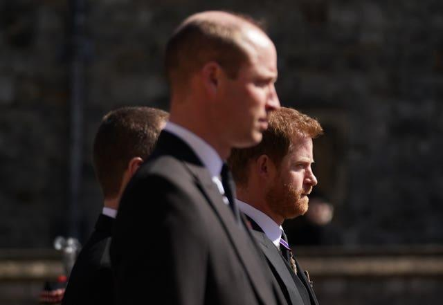 William and Harry walking together