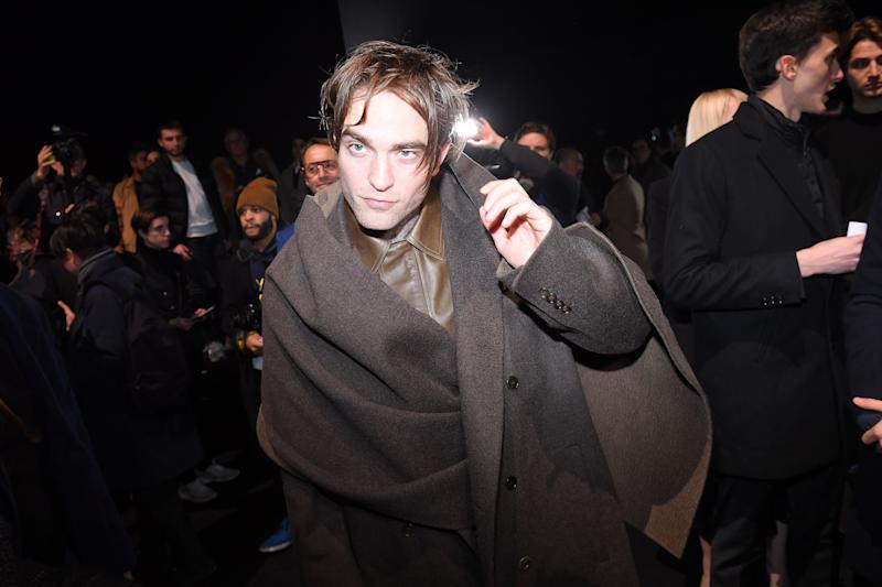 PARIS, FRANCE - JANUARY 18: Robert Pattinson attends the Dior Homme Menswear Fall/Winter 2019-2020 show as part of Paris Fashion Week on January 19, 2019 in Paris, France. (Photo by Victor Boyko/Getty Images)