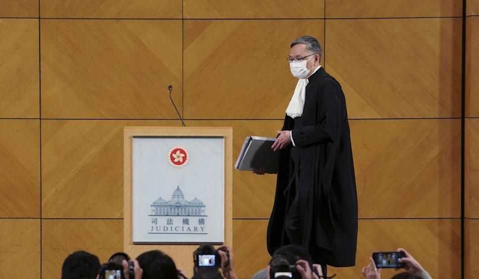 The new Chief Justice of the Court of Final Appeal Andrew Cheung. Photo: Felix Wong