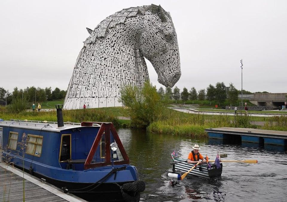 'Major Mick' described the Kelpies as 'breathtaking' (Andrew Milligan/PA) (PA Wire)