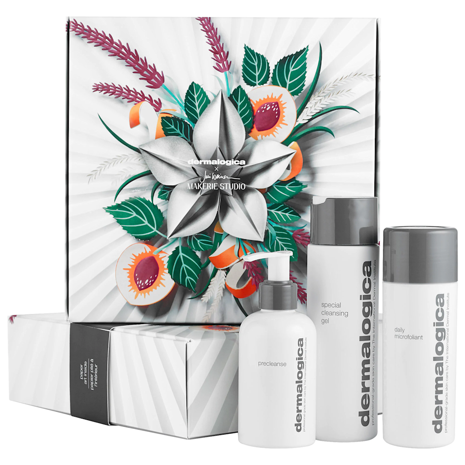 """For the clean freak in your life, grab this set which comes with a cleansing oil, cleansing gel, and gentle exfoliating powder. $95, Sephora. <a href=""""https://www.sephora.com/product/dermalogica-your-best-cleanse-glow-holiday-set-P463275"""" rel=""""nofollow noopener"""" target=""""_blank"""" data-ylk=""""slk:Get it now!"""" class=""""link rapid-noclick-resp"""">Get it now!</a>"""