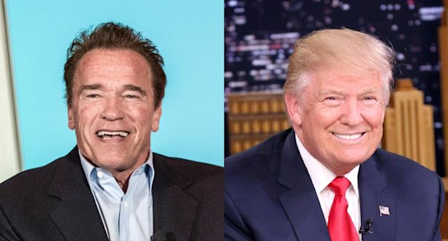 Arnold Schwarzenegger; Donald Trump. (Photo: Getty Images)